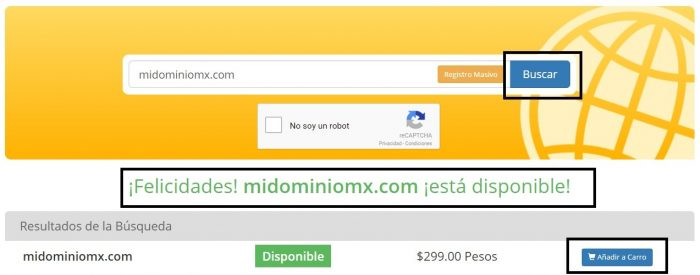 Registro de Dominios    Registrar un Dominio Web Hosting