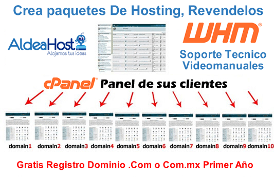 Hosting para Resellers Con WHM y cPanel Web Hosting