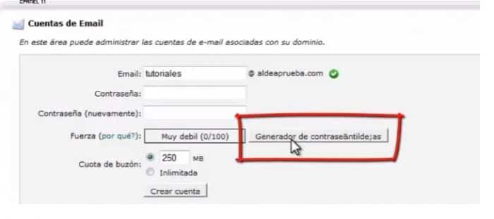 Como crear un email  o correo Electronico Web Hosting