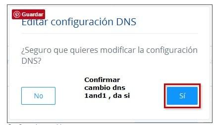 1and1 dominios  Apuntar Los Servidores de Aldeahost Web Hosting